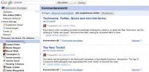 Google reader empfehlungen 300x145 Social News: Ist die Zukunft der Nachrichten social?