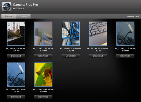 camera plus pro wifi sharing iPhone 4 Foto Apps: das sind die besten Foto Apps
