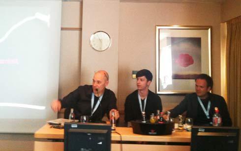 Q&A Non-technical SEO für Redakeure: von links nach rechts: Moderator Eric Kubitz, David Richter und Ludwig Coenen