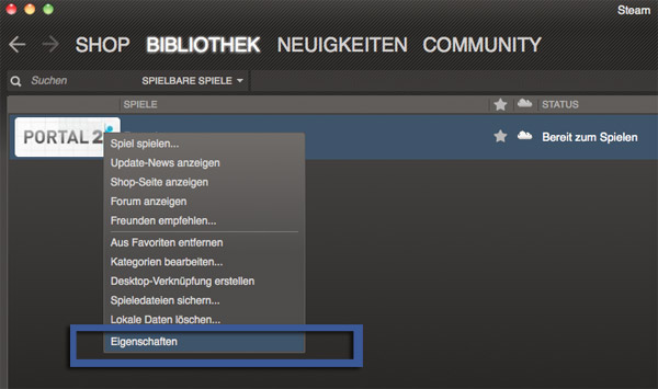 Post image for Portal 2 auf dem Mac: Sprache ändern ist Pflicht