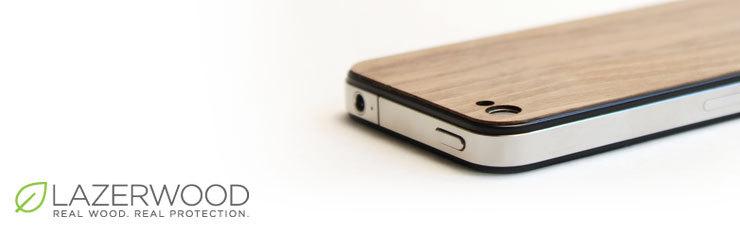 iPhone-Hülle aus Holz von Lazerwood