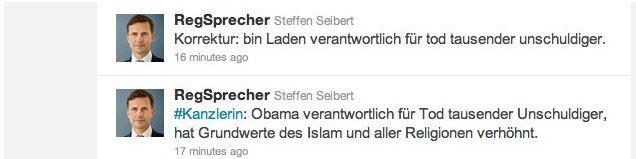 Steffen Seibert zu Obama ist tot...oder war es Osama?