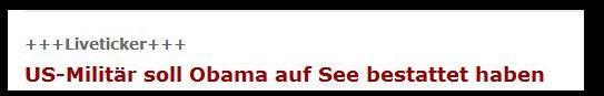 Osama Obama: Auch Spiegel Online hat's erwischt
